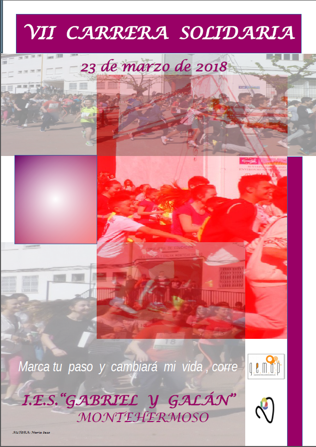 cartel carrera solidaria
